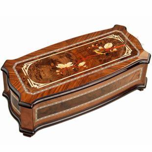 雷曼士木制156音八音盒音乐盒高端档大气中国风创意商务送领导礼物Y156B2M1