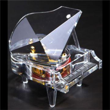 韵升正品水晶钢琴八音盒音乐盒天空之城创意送男女生日圣诞节特别礼物