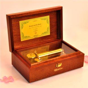 进口50音Sankyo木质高档端首饰八音盒音乐盒创意商务送领导情人节礼物