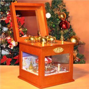 限量版进口高档木质旋转木马发光音乐盒八音盒创意送女生日圣诞节礼物