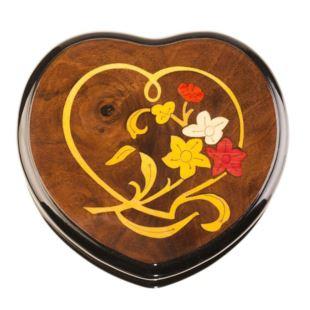 雷曼士18音木质首饰音乐盒八音盒创意送女生日情人节礼物精品可定制心形