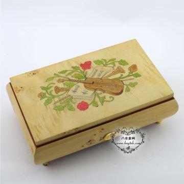 雷曼士木质50音首饰八音盒音乐盒Y50MS2-B高档创意送女情人节礼物精品