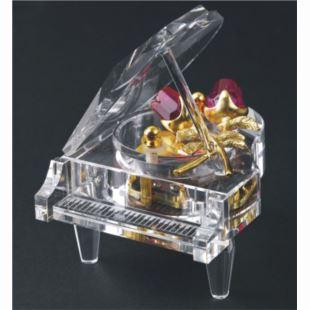 韵升正品水晶玫瑰钢琴八音盒音乐盒创意送女生日情人节特别礼物精品YM3C3GA
