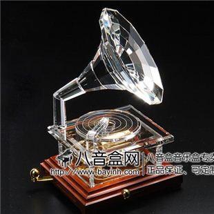 雷曼士30音水晶留声机八音盒音乐盒Y30C12高端大气创意商务生日女礼物