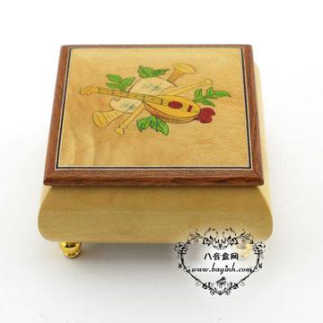 雷曼士木质18音八音盒音盒YB8MS1-B创意送女生日闺蜜生日礼物可定制特别