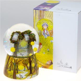 正品几米森林里的月亮水晶球音乐盒八音盒 创意七夕情人节送男女友生日礼物 可放照片