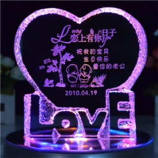 进口水晶八音盒音乐盒定制 可自定义曲目 创意DIY定制新婚结婚庆七夕礼物品