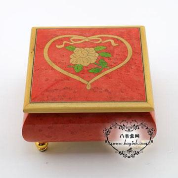 雷曼士18音木质八音盒音乐盒YB8MS1-C创意送女生闺蜜结婚庆礼物精品