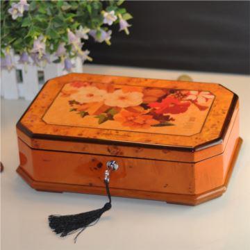 木质实用多功能首饰盒音乐盒八音盒创意送女生日七夕情人节特别礼物