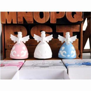 进口sankyo陶瓷花语天使音乐盒八音盒 天空之城 创意生日礼物品 家居摆件