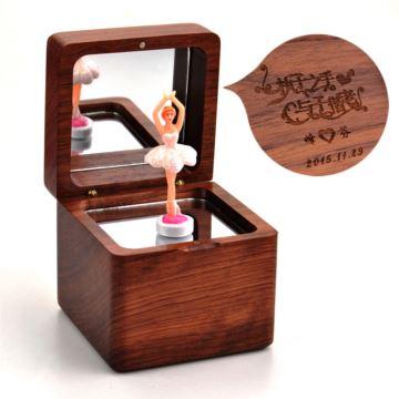 梨花木质18音跳舞芭蕾女孩音乐盒八音盒 创意生日礼物送女孩