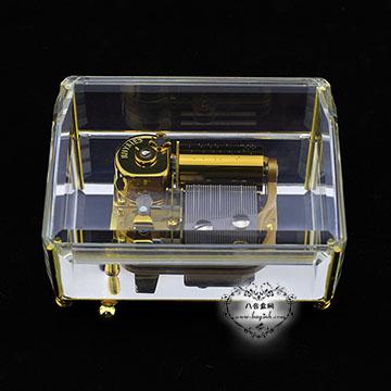 特价雷曼士30音水晶八音盒音乐盒Y30QCC创意送男女生日特别礼物精摆件