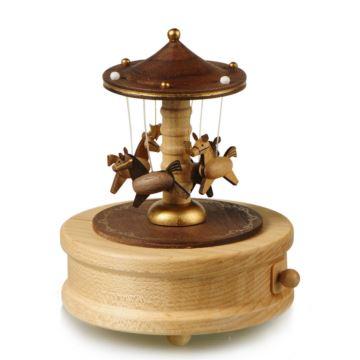 Jeancard台湾木质旋转木马音乐盒八音盒送男友女友生日创意特别礼物精品