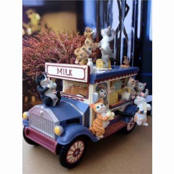 进口可爱龙猫咪巴士八音盒音乐盒创意送女生日特别礼物精品天空之城