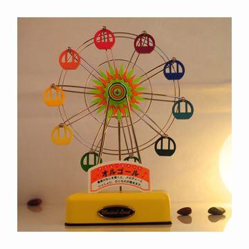 进口旋转摩天轮音乐盒八音盒天空之城创意送女生日圣诞情人节礼物可刻字