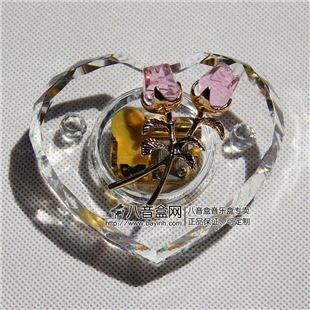韵升正品18音粉色水晶玫瑰八音盒音乐盒 天空之城卡农YM3C38RA