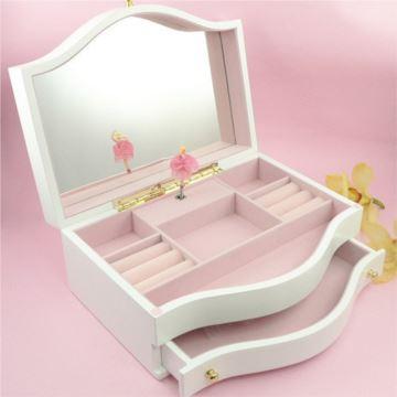 大号旋转芭蕾舞木质首饰盒珠宝盒音乐盒八音盒创意送女生日情人节礼物