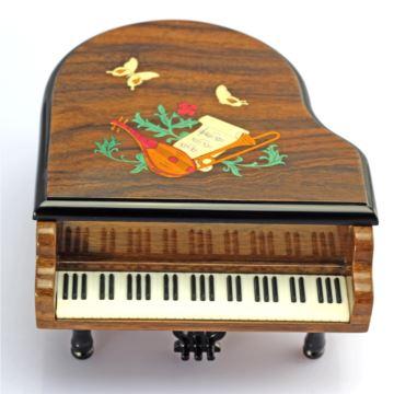 正品韵升雷曼士木质钢琴首饰八音盒音乐盒天空之城特价包邮可定制Y8BM8E