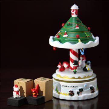 星巴克圣诞树音乐盒八音盒套件底座7个防尘塞原盒装创意送女圣诞礼物
