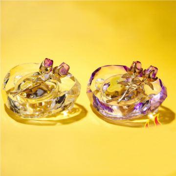 粉色紫色水晶玫瑰音乐盒八音盒创意精品送女生日特别礼物天空之城卡农