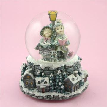 台湾万山男孩女孩雪花水晶球八音盒音乐盒圣诞节特别礼物送男女生日
