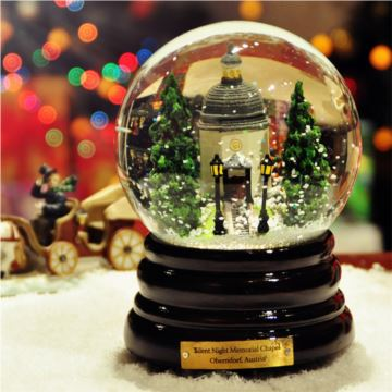 奥本多夫教堂旋转雪花水晶球八音盒音乐盒创意送女生日圣诞节精品礼物