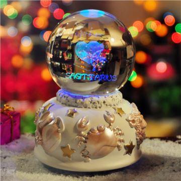 发光十二星座水晶球音乐盒八音盒射手座创意精品生日礼物品送女生