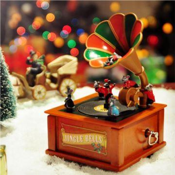 Mr.christmas正品旋转留声机八音盒音乐盒创意圣诞节礼物送女生日礼品