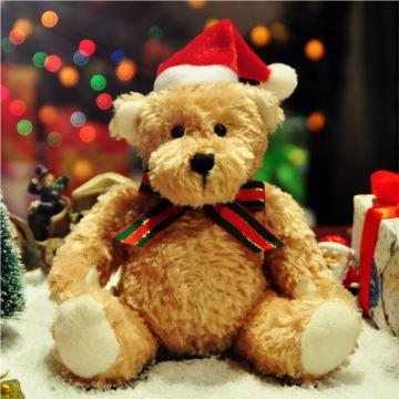 毛绒摇头玩具熊八音盒音乐盒圣诞节特别创意礼物品送女生日儿童精品