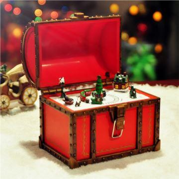 内旋转发光小火车八音盒音乐盒圣诞节礼物送儿童女友生日创意特别