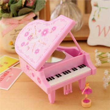 进口sankyo跳舞旋转芭蕾女孩钢琴音乐盒八音盒创意送女生日特别精美礼物