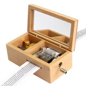 刻字实木16首歌DIY谱曲音乐盒八音盒男女友同学圣诞节创意礼物