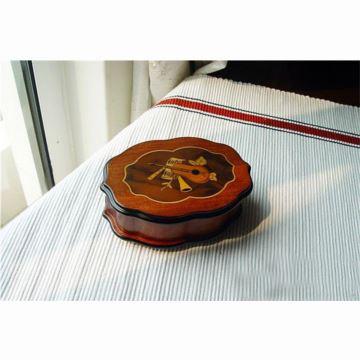 意大利瑞士进口木质首饰盒八音盒音乐盒御爵Reuge机芯创意送女生日礼物