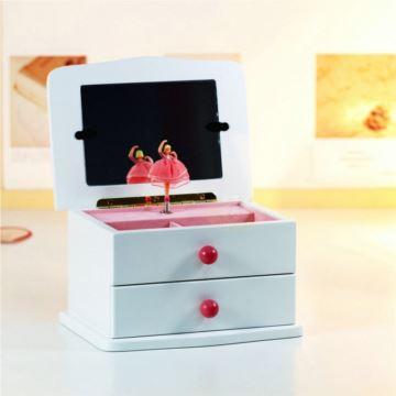 情人复古木质首饰盒珠宝盒音乐盒创意 生日 礼物送男女友