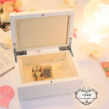 日本SANKYO18音发条式木质八音盒音乐盒首饰盒创意生日礼物送女生DIY特别实用