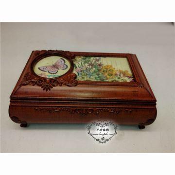 韵升树脂复古首饰盒八音盒音乐盒送老婆女友创意特别礼物实用