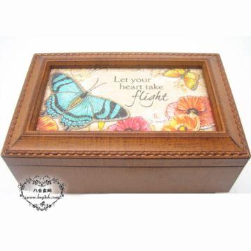 韵升树脂复古首饰盒八音盒音乐盒送老婆女友创意情人节礼物品