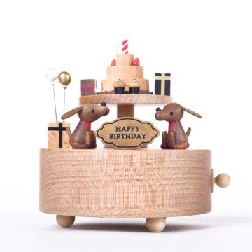 台湾Wooderful life旋转生日蛋糕八音盒音乐盒创意情人节浪漫生日礼物父亲节