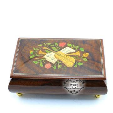 韵升雷曼士木质八音盒音乐盒首饰盒生日结婚礼物创意礼品送女生特别实用YB8MS2-A