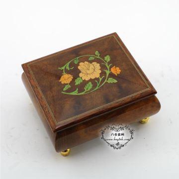 韵升雷曼士木质八音盒音乐盒创意结婚礼物品送女友情人节特别可定制曲目Y30M10