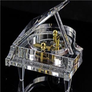 雷曼士30音水晶钢琴八音音乐盒Y30C3七夕情人节创意送女生日礼物可定制