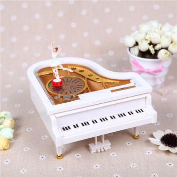 Sankyo树脂跳舞女孩芭蕾舞旋转音乐盒八音盒送老婆女友七夕情人节礼物