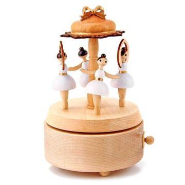 Jeancard木质天芭蕾舞娃娃跳舞女孩八音盒音乐盒送女生日浪漫特别礼物