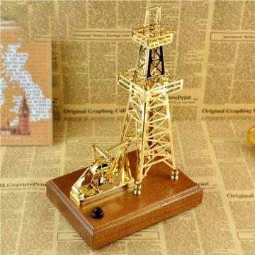 日本Sankyo木质金属塔八音盒音乐盒送老公男生日创意礼物商务高档礼品