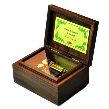 日本Sankyo高档胡桃木30音乐盒八音盒天空之城创意生日商务礼品收藏品