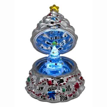 美国Mr.Christmas陶瓷炫彩带灯八音盒音乐盒创意生日结婚礼物特别礼品