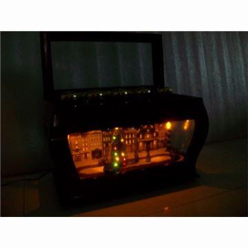 美国Mr.Christmas高档木质长鼓铃铛仿古汽车八音盒音乐盒创意特别礼物