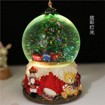 18音树脂旋转水晶球八音盒音乐盒天空之城圣诞节日礼物送男女创意礼品