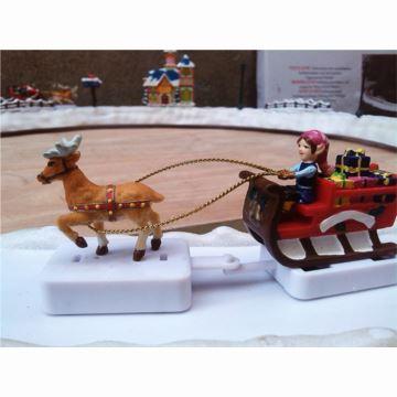 18音Mr Christmas圣诞老人圣诞树滑雪屋雪人八音盒音乐盒创意节日礼物摆件