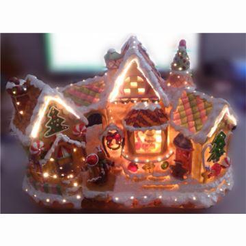 18音Mr Christmas发光旋转糖果屋雪屋圣诞老人八音盒音乐盒创意圣诞礼物